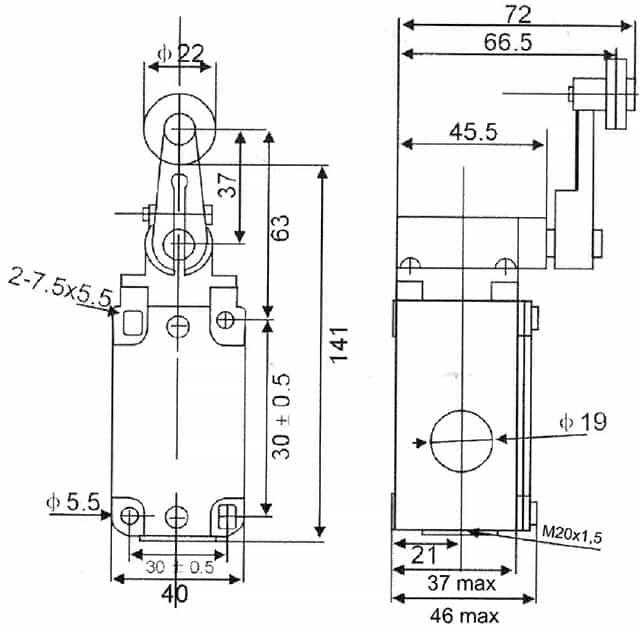 Габаритні розміри ВП-15-231